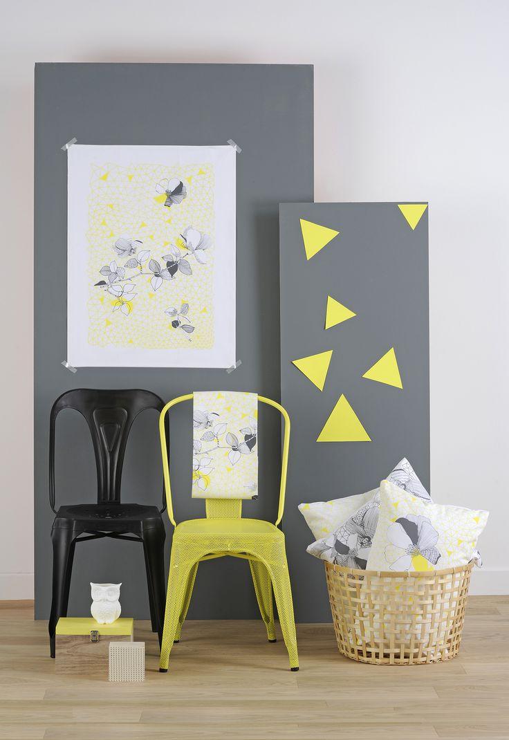 Collection MOSAÏC jaune fluo photos : Betty studio mise en scène : les Ambiances d'isa