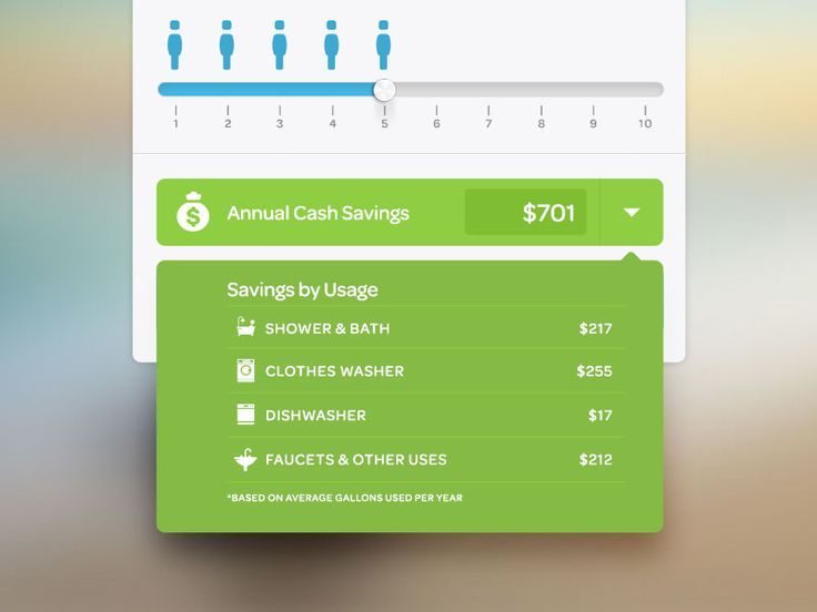Savings Dropdown  by Mark Guillermo