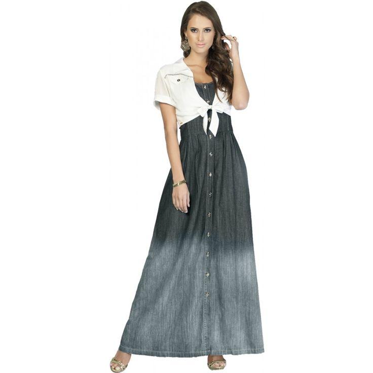 vestidos longos jeans 1.jpg (1000×1000)