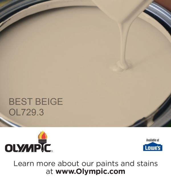 BEST BEIGE OL729.3 is a part of the beiges collection by Olympic® Paint.