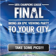 #Heineken is activating its #UEFA Champions League #sponsorship via a mobile & Facebook application that gives users a chance to win a viewing party for the final in their city. Users take a photo of themselves enjoying a match, upload it, tag their location and enter to win. Every upload scores a point for the user's city.  The app's leaderboard lists the top ten cities and vote counts. Users can submit photos until mid-April.   Another app feature shows users the closest Heineken retailer.