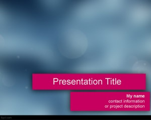 Free blur and spashy PowerPoint Template
