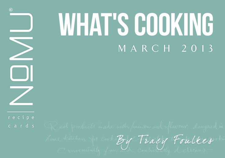 What's Cooking Recipe Cards | March 2013