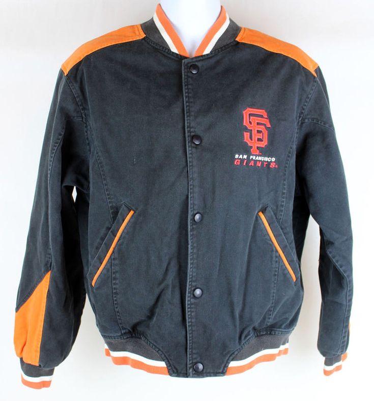 Mens SF Giants Vintage Genuine Merchandise Letterman Jacket Size Large VTG #sfgiants #MLB #baseball  #BaseballJacket #vintage