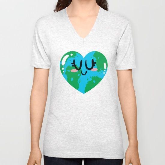 I Love Earth Unisex V-Neck