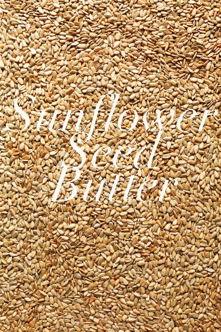 SUNFLOWER SEED BUTTER with chia, flax, pumpkin and hemp! #sunbutter # ...