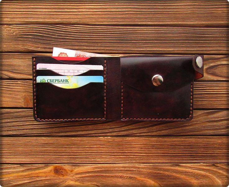 Купить Кошелек (коричневый) - коричневый, кошелек, кошелек из кожи, кошелек ручной работы, кошелек кожаный