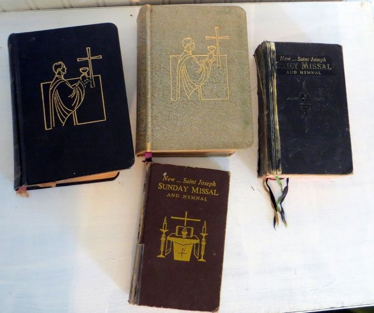Vintage Catholic Missal Book Lot 1960s Lot of Four Missal and Hymnal