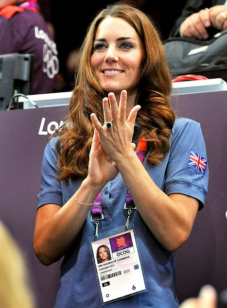 Catherine, Duchess of Cambridge applauds during the Women's Handball Preliminaries Group A match between Great Britain and Croatia on Day 9 of the London 2012 Olympic Games at the Copper Box on August 5, 2012 in London, England.