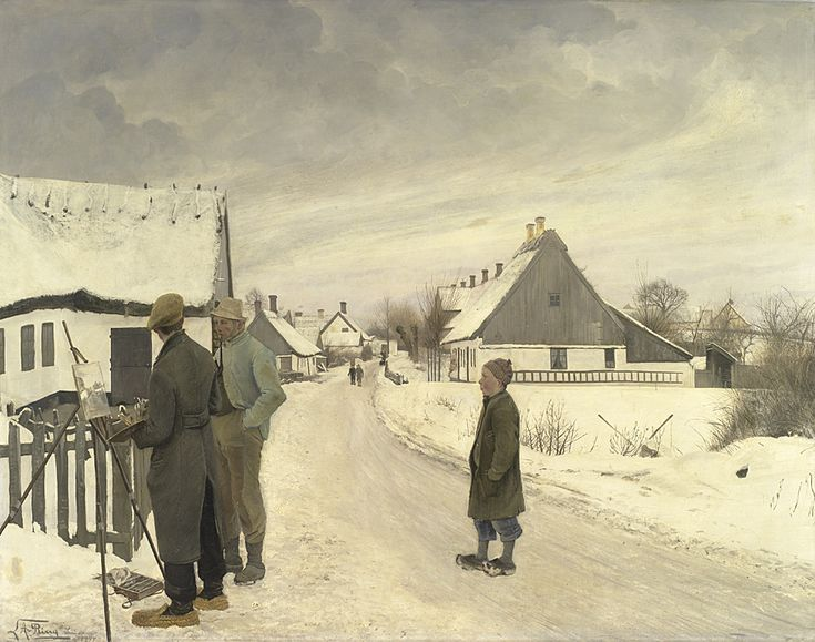 The Painter in the Village | L. A. Ring | 1897 | Statens Museum for Kunst | CC0