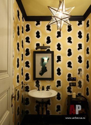 Фото интерьера санузла квартиры в стиле эклектика