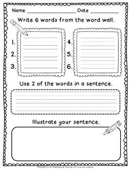 WRITING STATION ACTIVITIES FOR YOUNG LEARNERS BUNDLE - TeachersPayTeachers.com