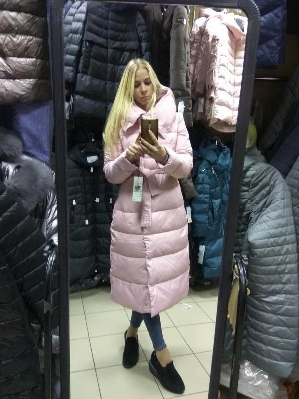 2328f99eef6 Шикарный зимний длинный розовый пуховик одеяло