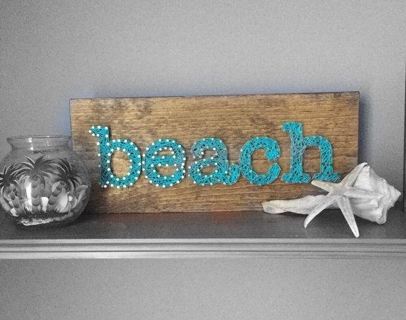 Made to Order Beach String Art Sign