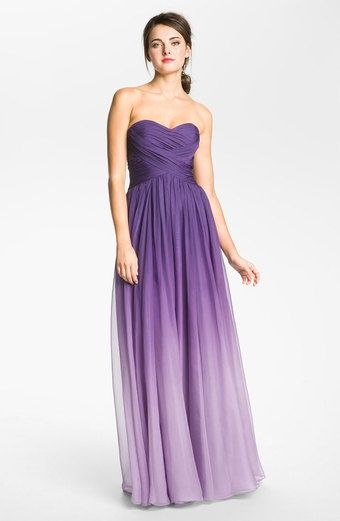 purple ombre wedding dress | Wedding / purple ombre bridesmaid dress