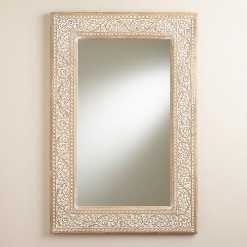 One of my favorite discoveries at WorldMarket.com: Carved Lydia Mirror