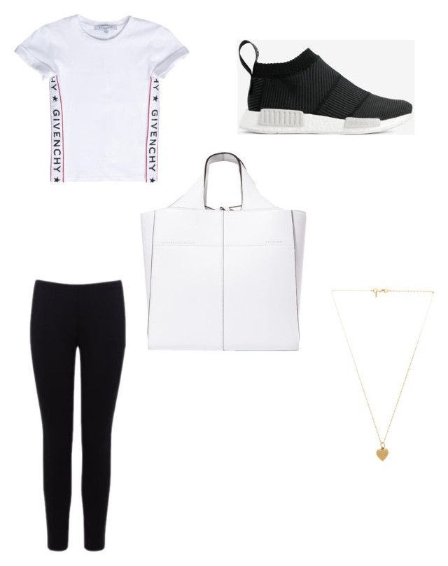 """""""pure white tote"""" by bethanyyk on Polyvore featuring Victoria Beckham, Givenchy, adidas, Warehouse and Vanessa Mooney"""