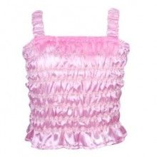 Faint giggles will ensure you will hear your little pixie playing in the garden if she has her sparkling pixie top on. Elasticised shoulder straps connect to a shirred bodice, made by multiple rows of stitching using elastic thread and sparkling multicoloured ribbon.  Finish the look with the matching Sparkling Pixie Skirt