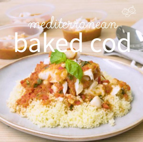 This Mediterranean Baked Cod is a tasty and healthy dish sure to be a hit with the whole family! It is the perfect first fish recipe for your weaning baby.