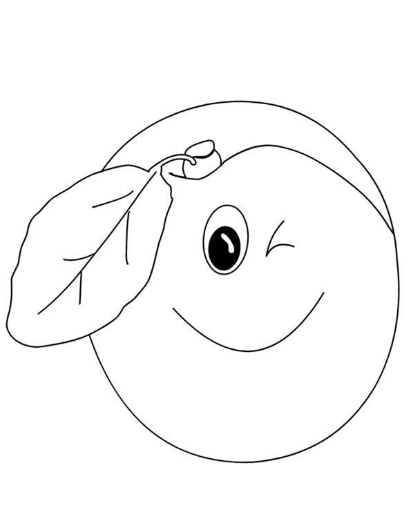 apricot coloring page (2)