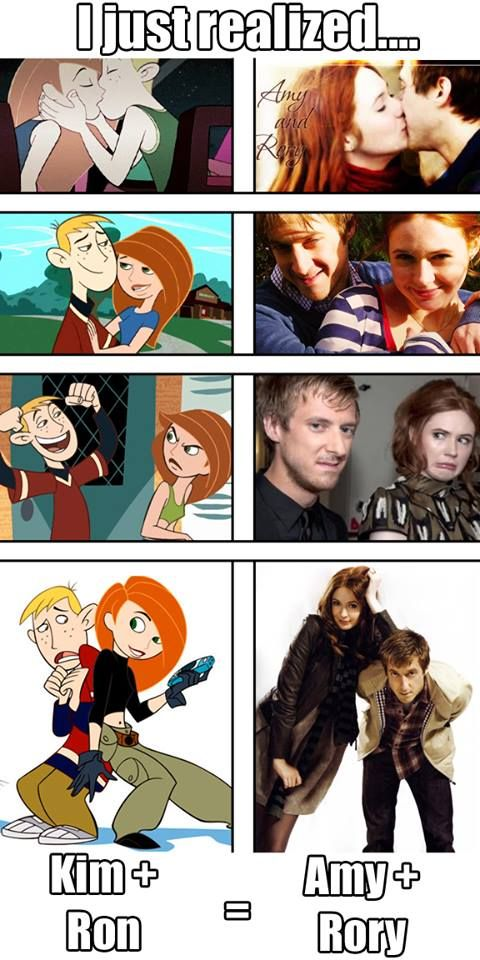 Kim + Ron = Amy + Rory. Haha cute