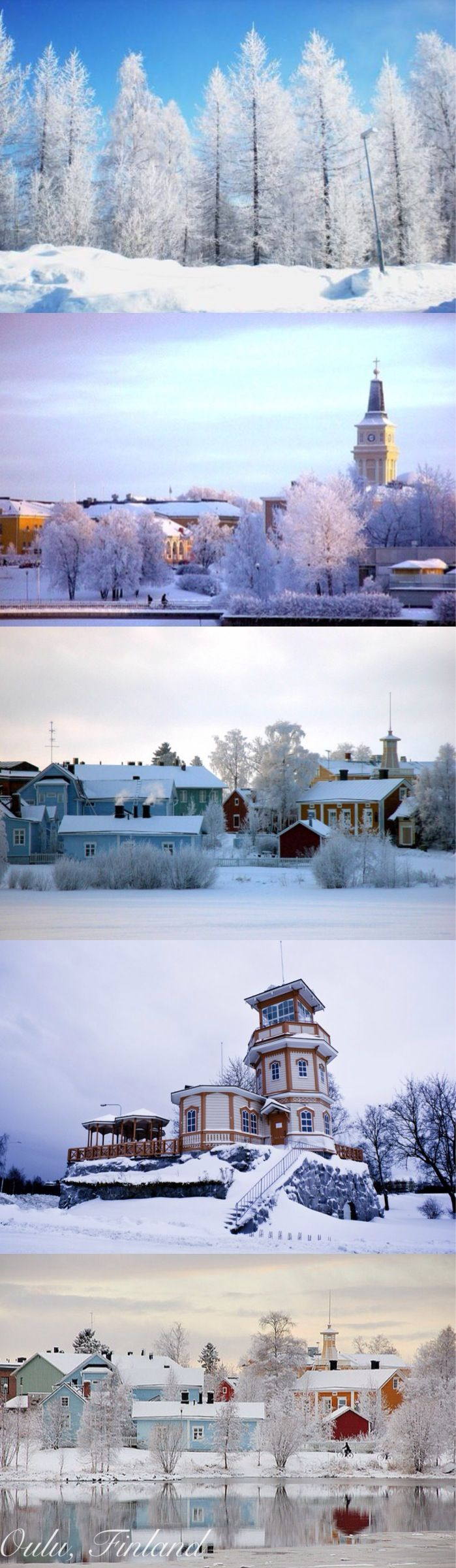 Oulu in the winter, Finland.