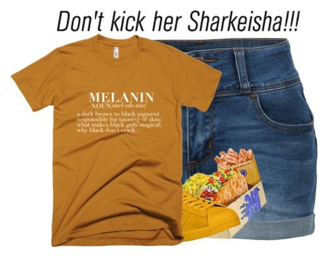 """""""Don't Kick Her Sharkeisha!!!"""" by airenikole ❤ liked on Polyvore featuring LE3NO, adidas and AG Adriano Goldschmied"""