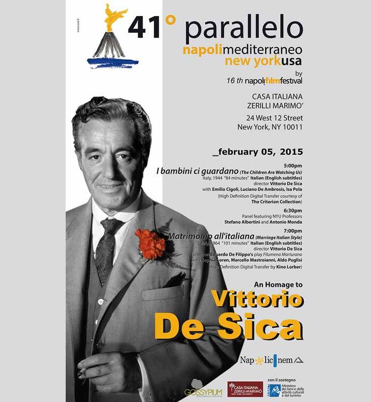 New York: omaggio a Vittorio De Sica e Francesco Rosi
