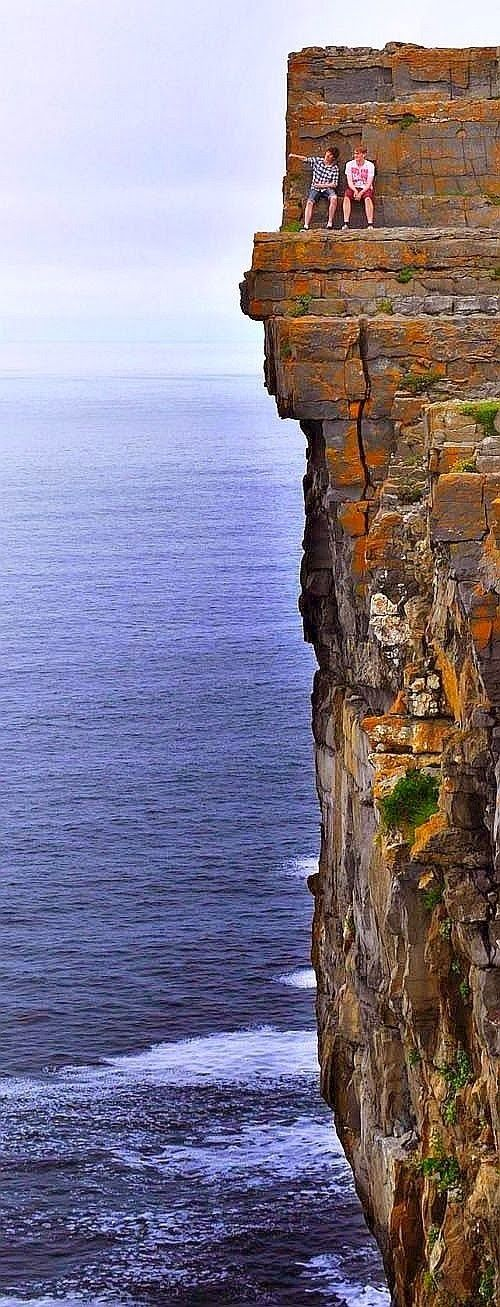 Daredevil Cliffs, Inishmore coastline, Aran Islands, Ireland Let's go Jesse, we'll face our fears and climb then jump in water for good measure--oh can you imagine!