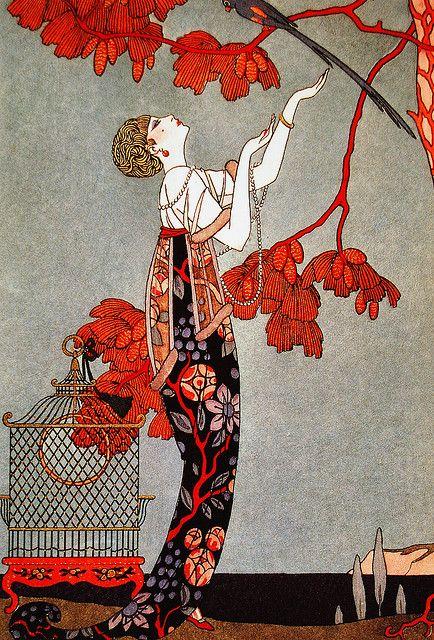 Fashion Illustration by George Barbier, 1914.