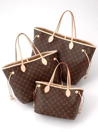 LV Neverfull, GM, MM and PM! Size Comparison.