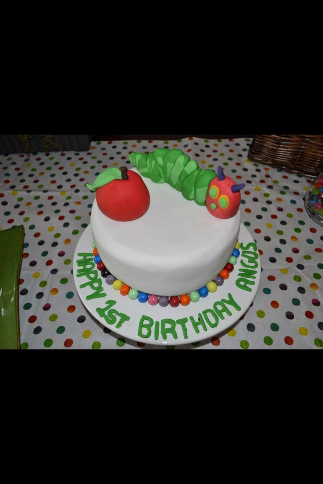 Hungry little caterpillar cake.