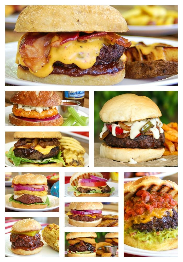 10 Gourmet Burgers That'll Rock Your Summer Grill Menu #TSRISummer  LINK -- http://parade.condenast.com/24997/donnaelick/10-gourmet-burgers-that-will-rock-your-summer-grilling/