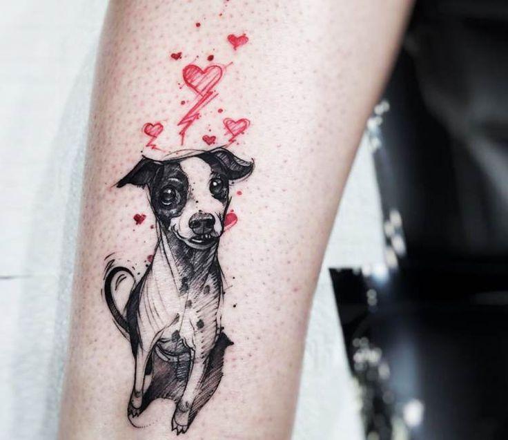 Mini Dog Jack tattoo by Felipe Rodrigues