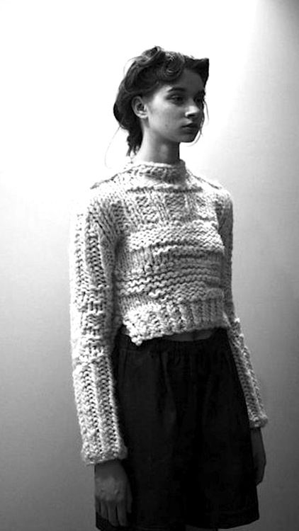 amandahendersonknits:  amanda henderson knits / photo of the chelsey sweater at the a/w 2013 presentation / photo by douglas henderson