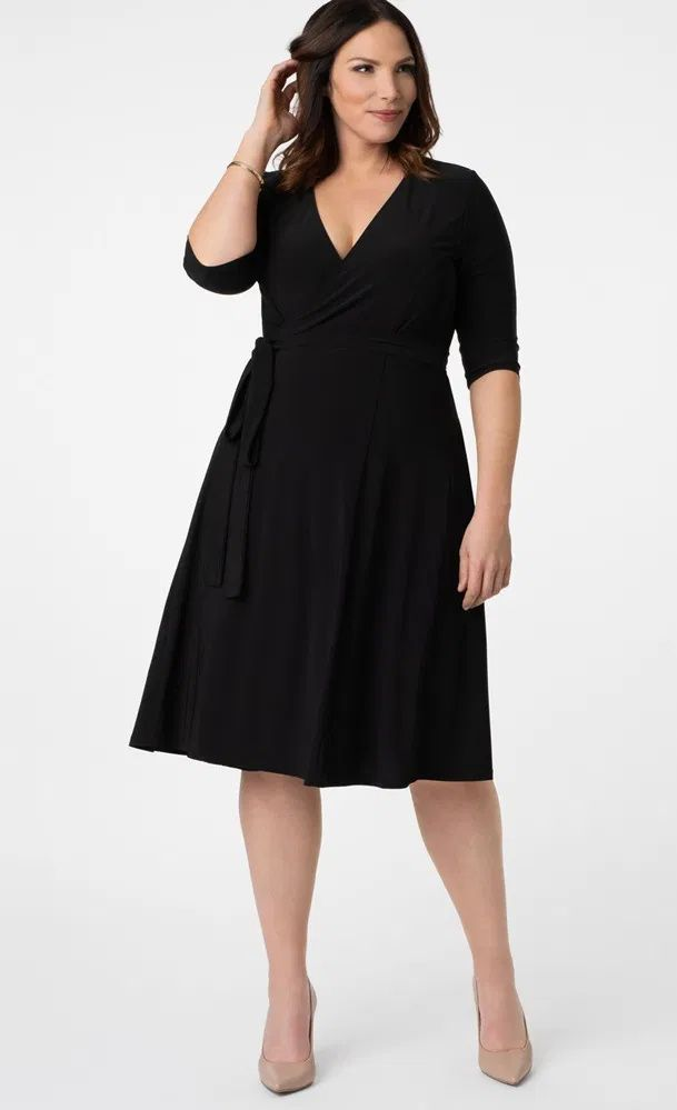 Plus Size Little Black Dress New Styles Of The Classic Lbd In Plus Sizes Wrap Dress Outfit Plus Size Black Dresses Black Dresses Classy