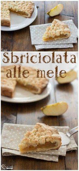 Sbriciolata alle mele #ricette #cucina #dolce #mele