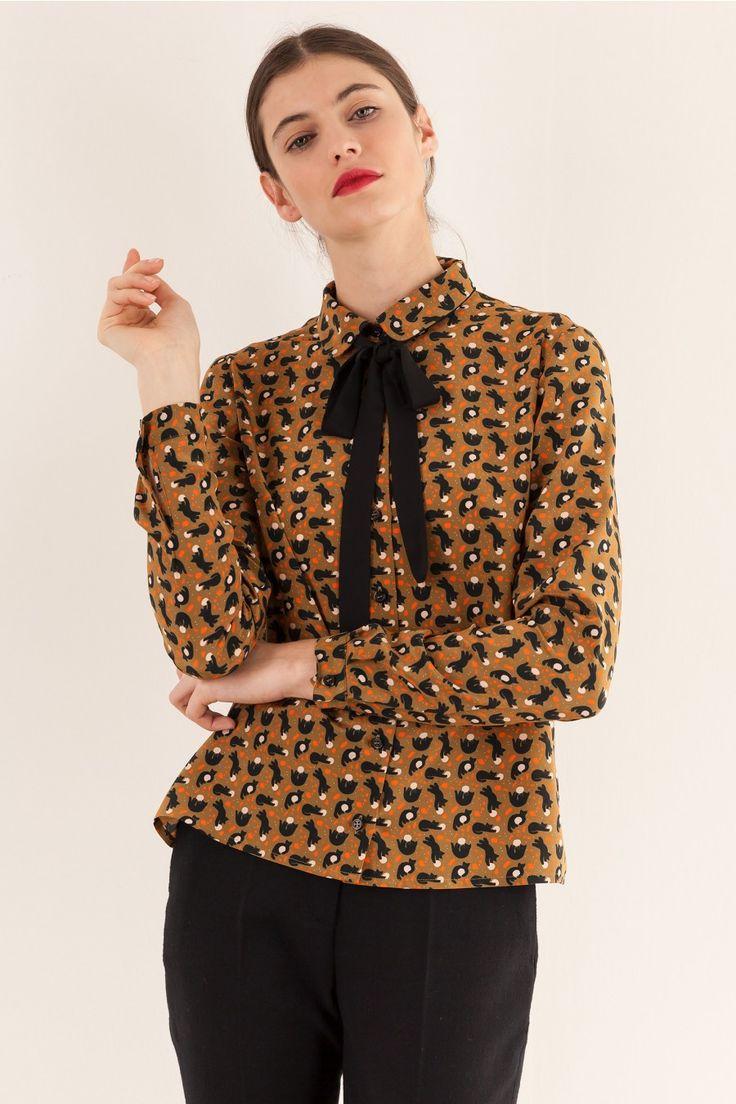 Camicia gatti  fiocco Anna Kovecses