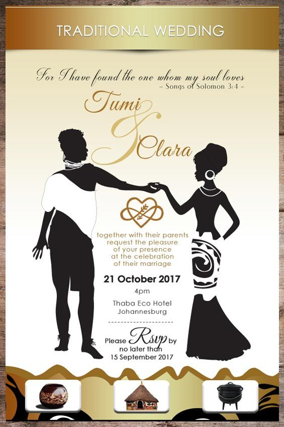Are You Celebrating A Traditional African Wedding And Need An Invite De Traditional Invitation Wedding Invitation Card Template Traditional Wedding Invitations