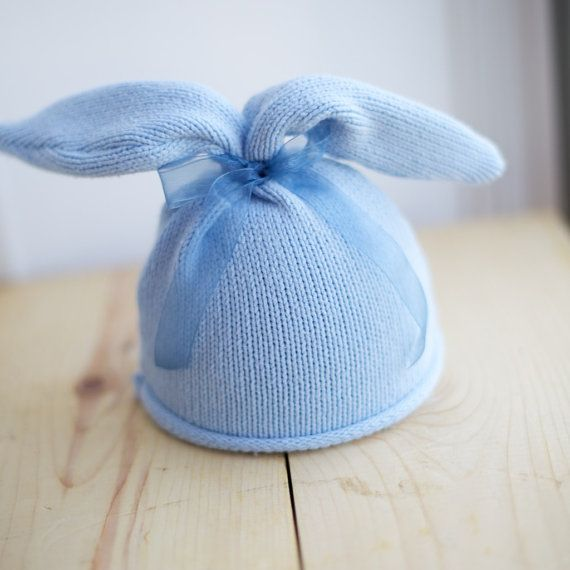 UpCycled Newborn OOAK Blue Baby Boy Bunny Easter by EllesPropShop, $15.00