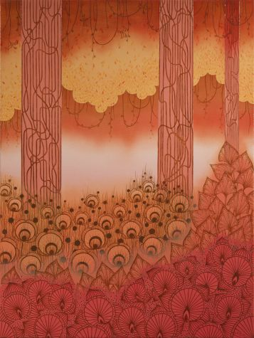 Elisa Viotto - Il caldo bosco - Oil on canvas