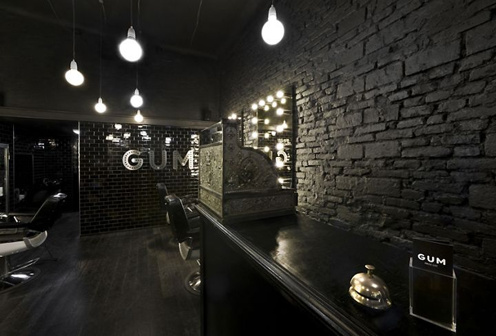 Gum hair salon milan store design hair salon for Salon milan design