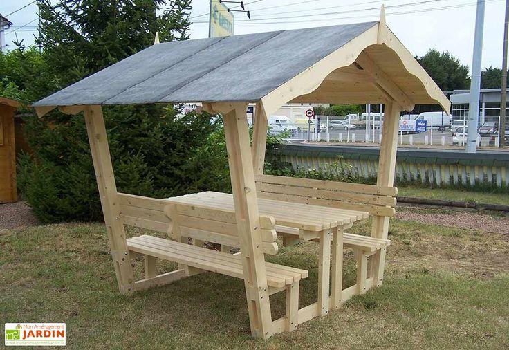 table de pique nique toiture bardeau bitum 6 places nice proiecte de ncercat pinterest. Black Bedroom Furniture Sets. Home Design Ideas