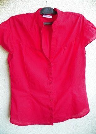 Kup mój przedmiot na #vintedpl http://www.vinted.pl/damska-odziez/koszule/9663802-czerwona-koszula-z-krotkim-rekawkiem-orsay