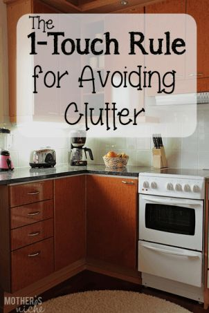 I find my house doesn't clutter up when I follow this simple rule my husband taught me