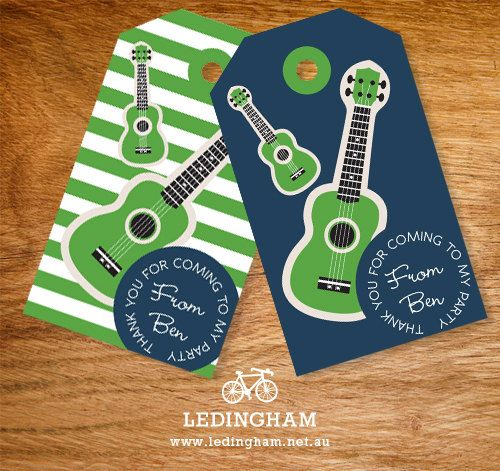 Rock Guitar Party Theme Thank You Lolly Bag Party by LedinghamShop, $5.95