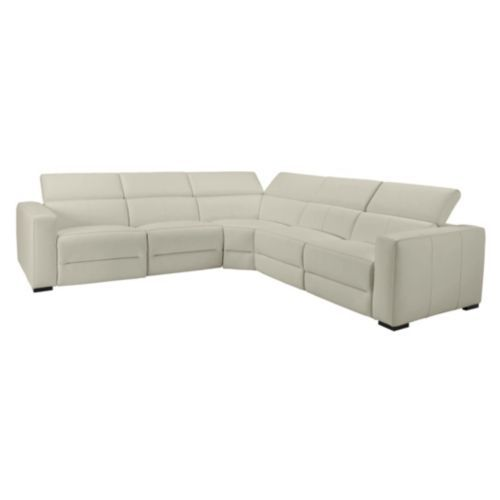 Verona Reclining Sectional Taupe Armless Chair Power