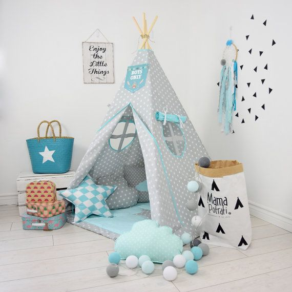 Childrens teepee, playtent, tipi, zelt, wigwam, kids teepee, tent, play teepee, wigwam with mat- Imaginary Friend