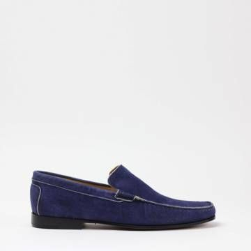 INDIOS NOGUAR 4 Washed Suede Colonial Loafer Shoes Men Shoes
