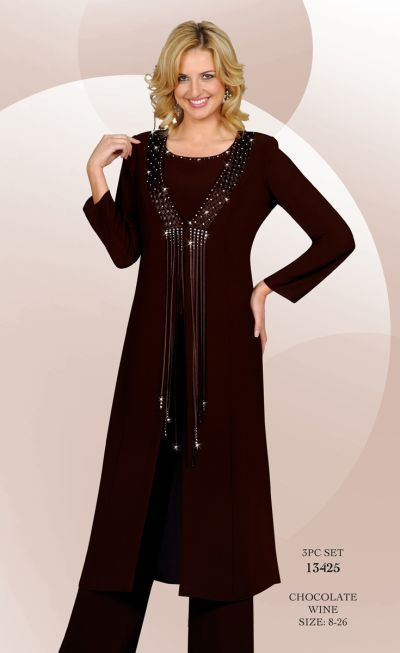 Check out the deal on BenMarc Misty Lane Embellished 3pc Pant Suit 13425 at French Novelty